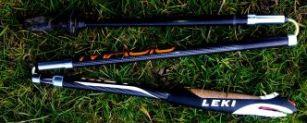 Leki trail sticks folded