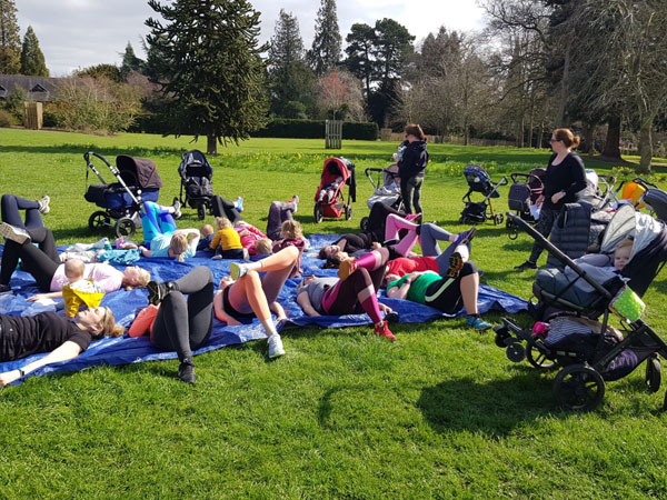exercise outside with your child or baby with buggyfit oxford