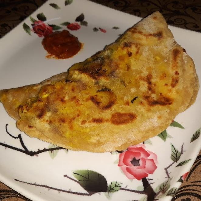 Mushroom-Cheese-Parantha-Lunchbox-dish