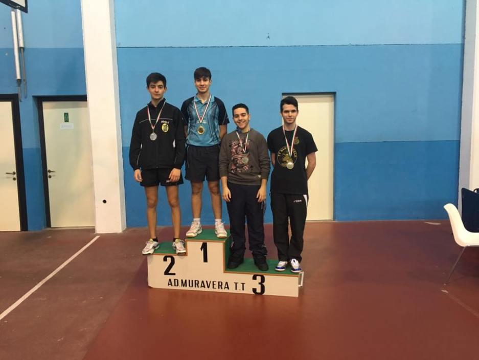 Il podio Juniores maschili (Foto Santa Tecla Nulvi)