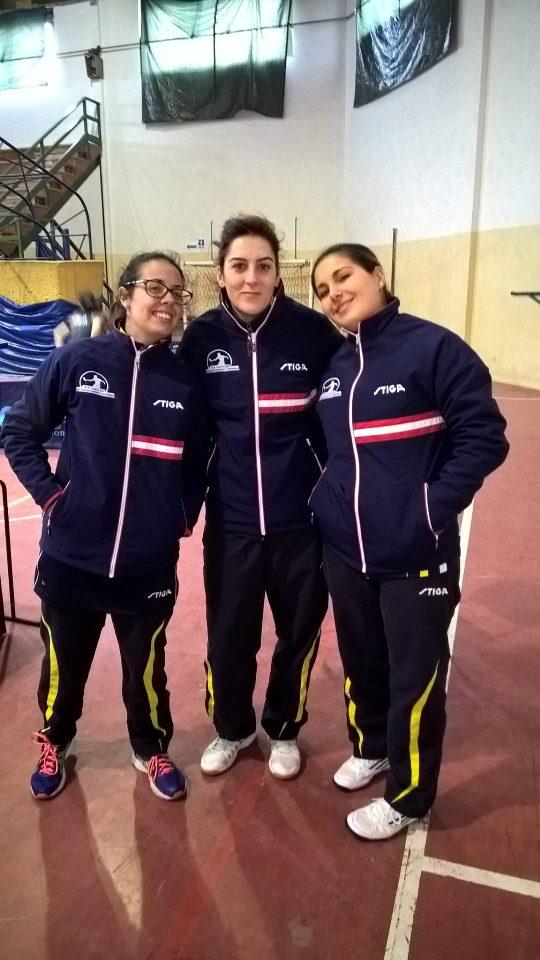 Il trio dell'Azzurra Cagliari di B femminile