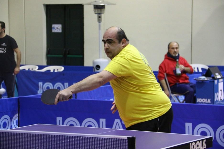 Francesco Sanna del Tennistavolo Norbello (Foto Gianluca Piu)