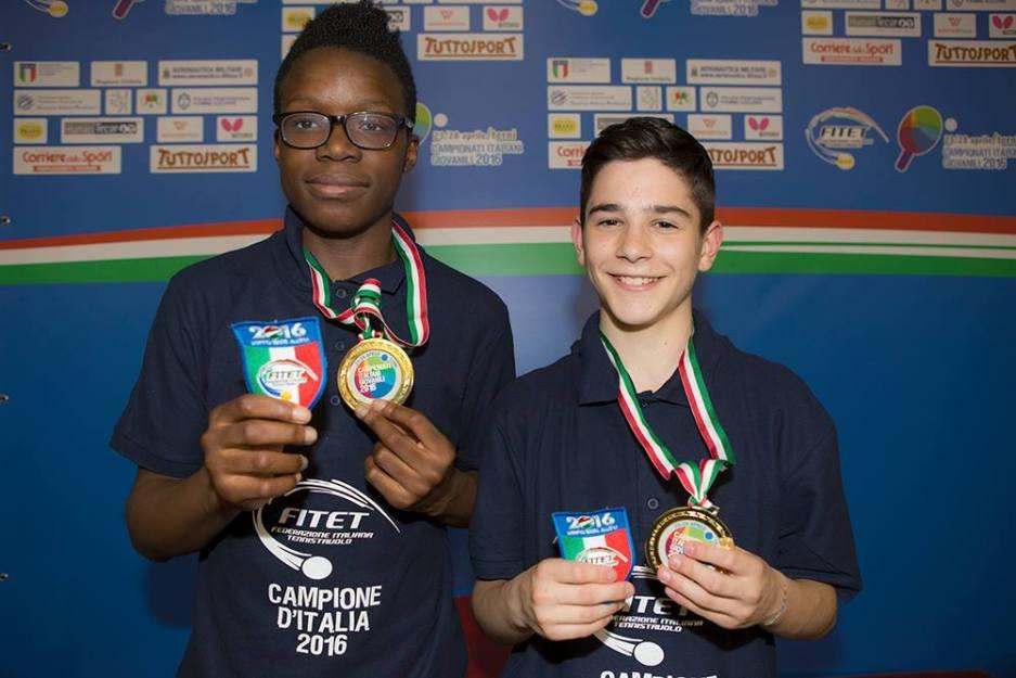 Oyebode e Rossi oro nel doppio maschile Allievi (Foto Fitet)