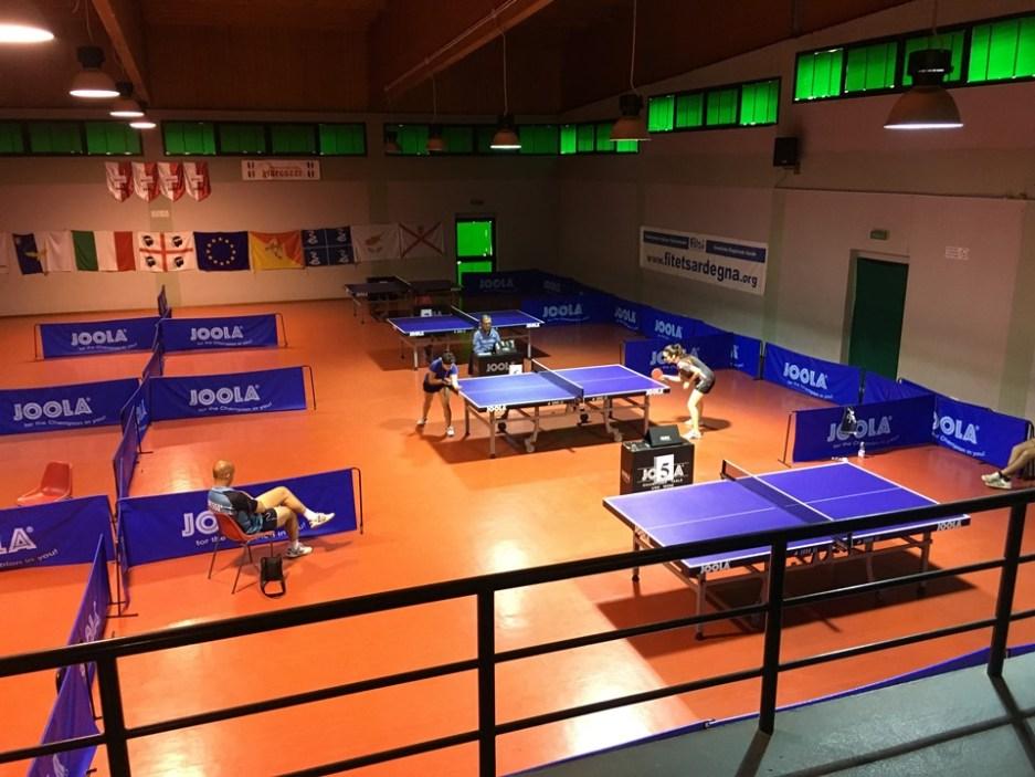 Un momento del torneo femminile di Cagliari