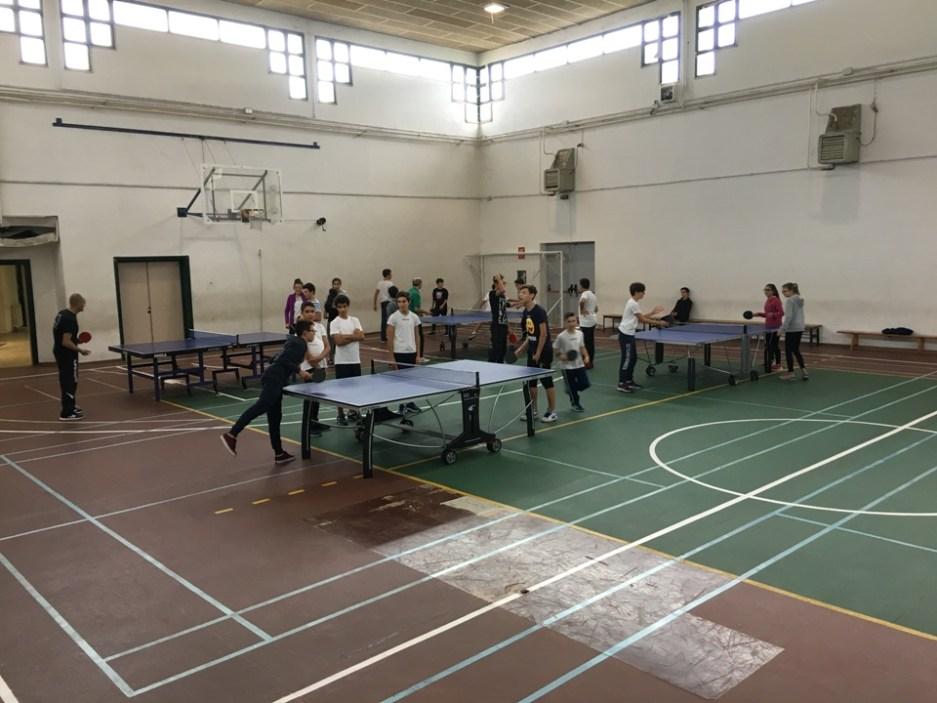 Prima lezione stagionale di Tennistavolo al Porcu Satta di Quartu