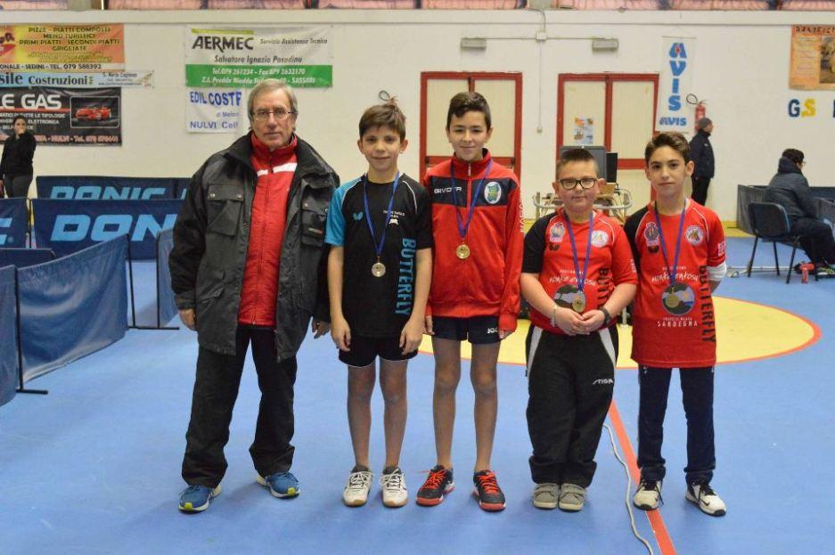 Il podio Ragazzi maschile (Foto Luciano Saiu)
