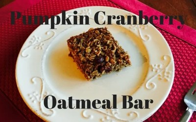 Pumpkin Cranberry Oatmeal Bar