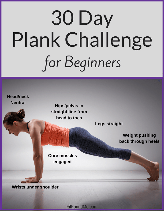 proper plank form for 30 day plank challenge for beginners to lose weight after 40