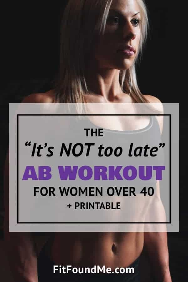 lady over 40 with fit abs