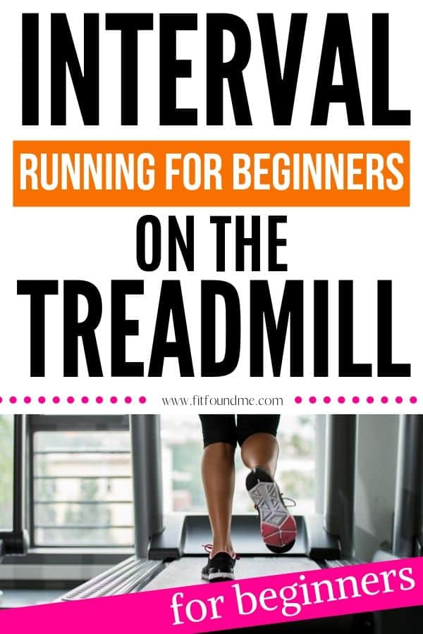 woman on traedmill doing beginner interval workout