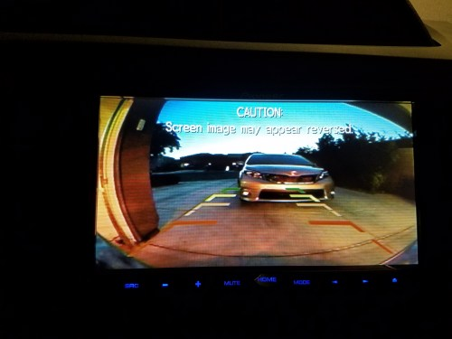 small resolution of reverse wire jpg backup camera how did you run the wiring reverse screen view