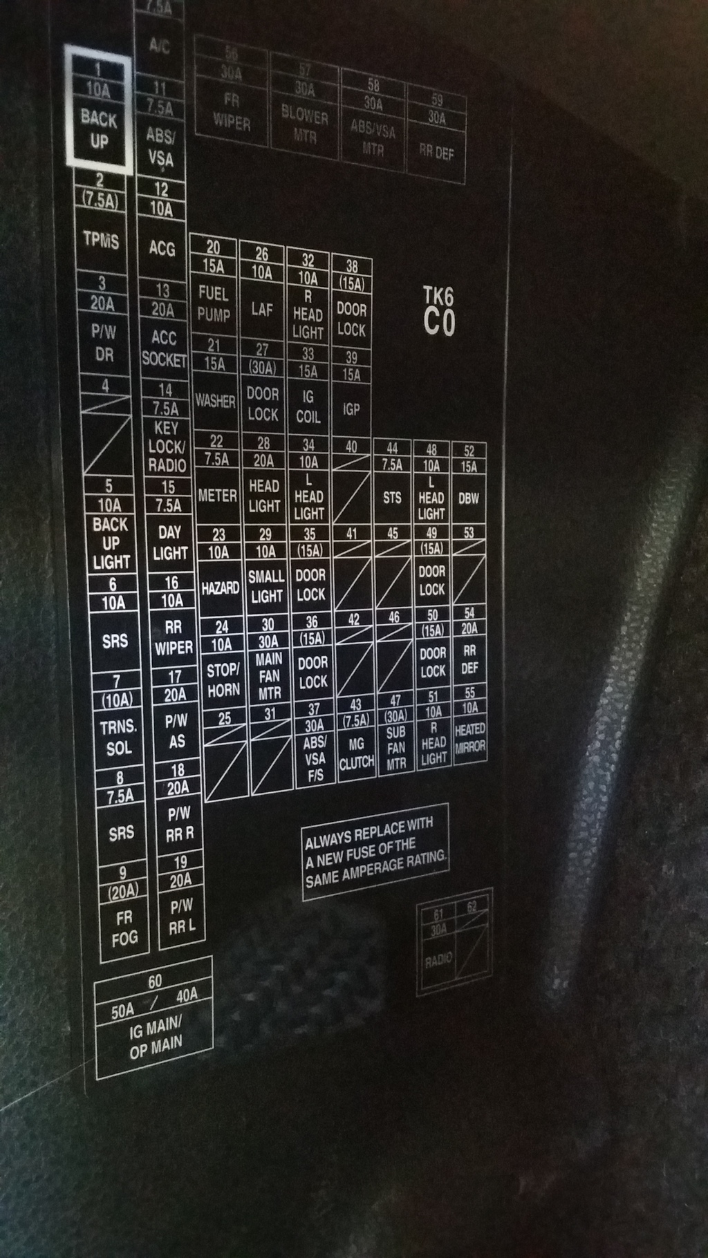 2015 Civic Wiring Diagram 2014 Fit Map Dome Rear Light Fuse Location Unofficial