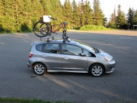 Roof rack installation on Honda Fit