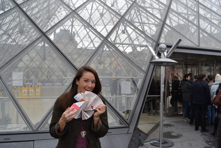 Skipping the line at the Lourve with my Paris Pass