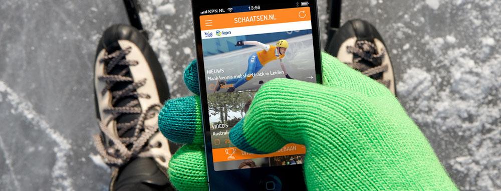 Schaatsactiviteiten meetbaar maken of schaatsinfo lezen met de schaatsen.nl app.