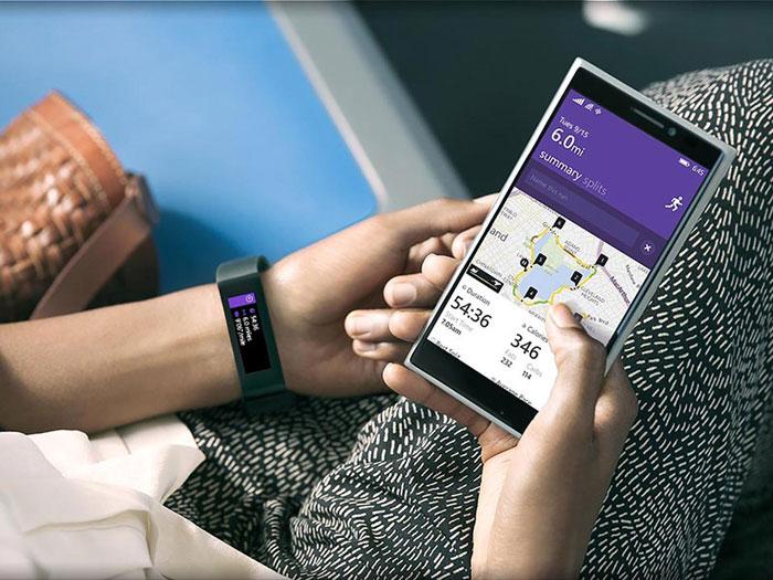 Microsoft Band Lumia telefoon