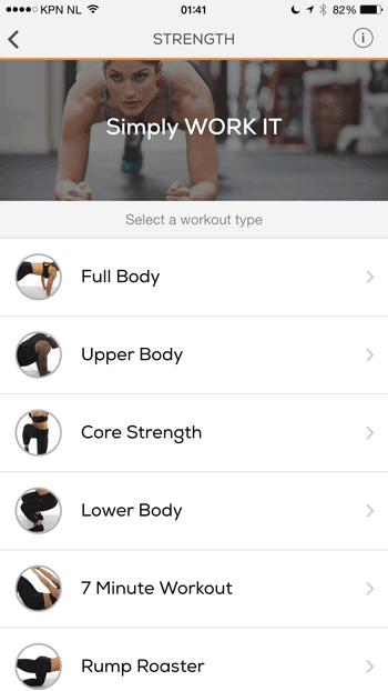 sworkit workout kiezen