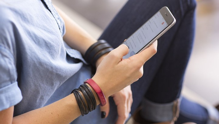 Jawbone UP met smartphone