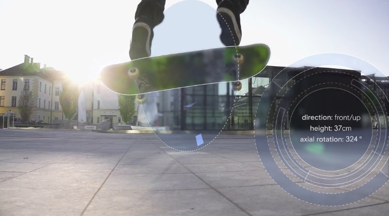 Suunto Movesense met skateboard