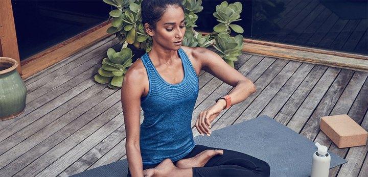 Fitbit Ionic yoga