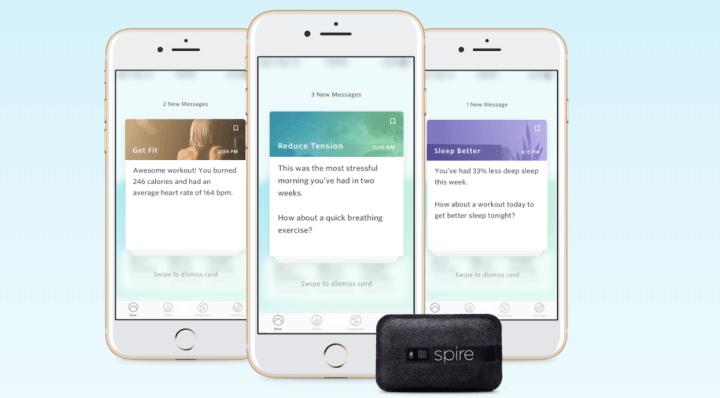 Spire Sensor met iPhone-app