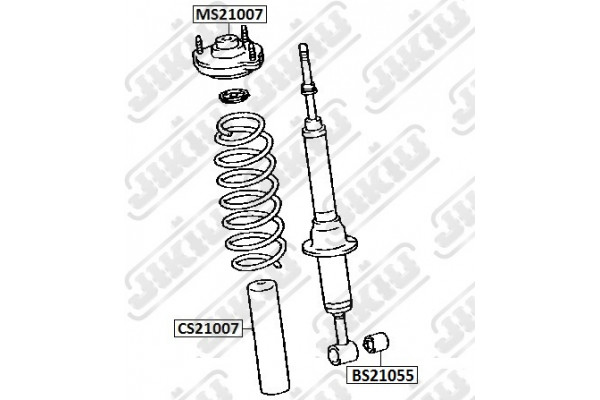 SHOCK ABSORBER BUSH TOYOTA 90903-89012