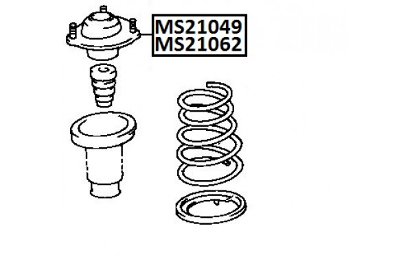 SHOCK ABSORBER MOUNTING XM 48750-06010