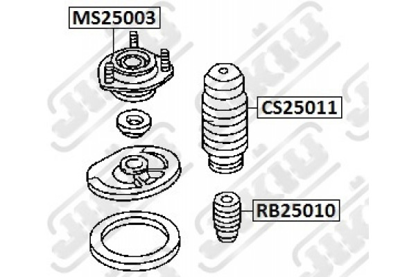 SHOCK ABSORBER MOUNTING SACHS 802118