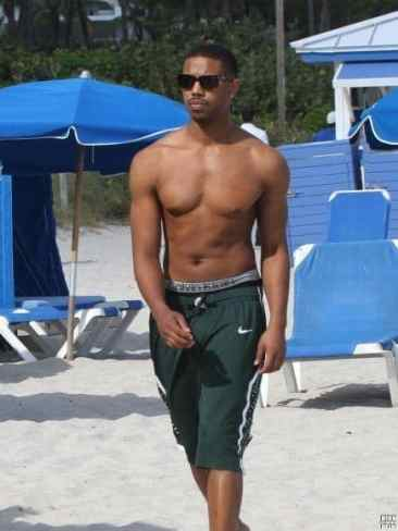 Michael B. Jordan Shirtless Mix image