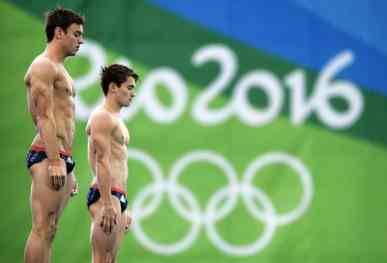 Daniel Goodfellow & Tom Daley In Action At Rio image