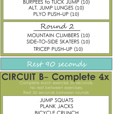 HIIT TUESDAY WORKOUT #1