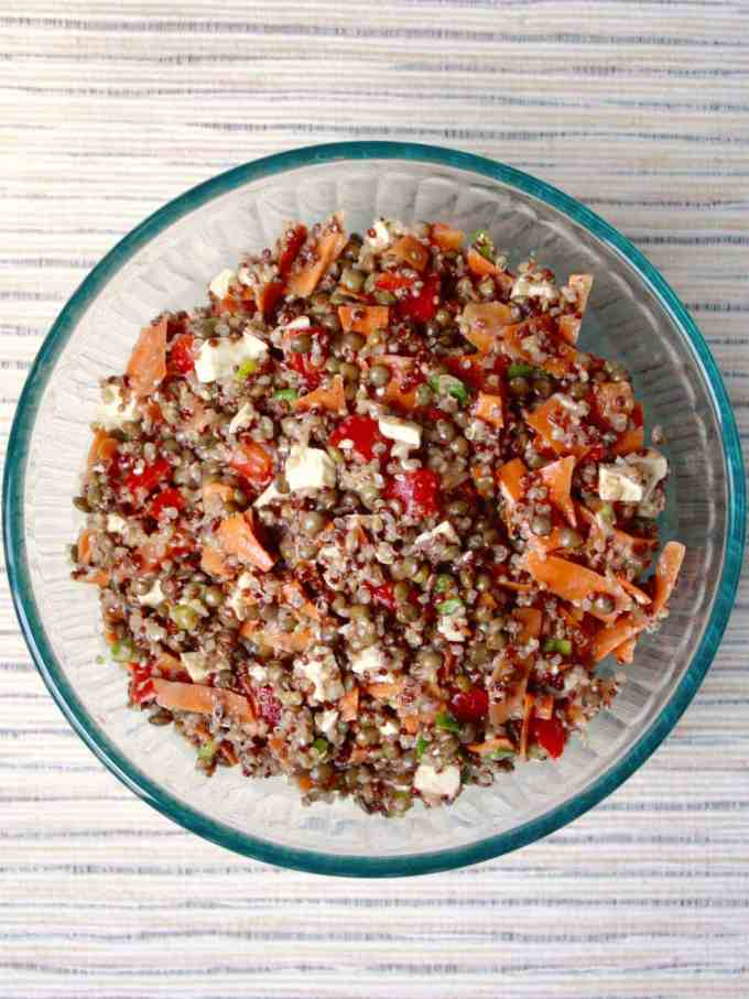 Maple Balsamic Quinoa Lentil Salad [Fit Mitten Kitchen]