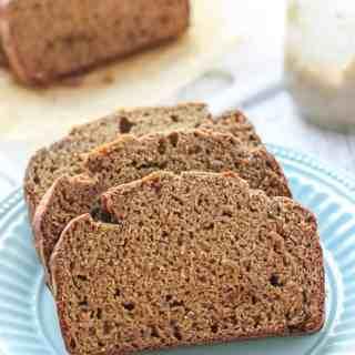 Healthy Low Fat Whole Wheat Banana Bread-12