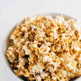 Homemade Healthy Salted Caramel Popcorn 1