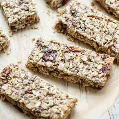 Golden Berry Granola Bars [ vegan, gluten-free ]