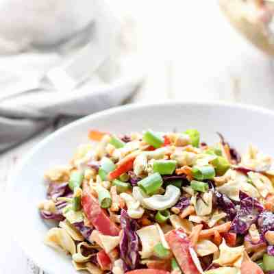 Thai Slaw with Cashew Curry Dressing [ Healthy Summer BBQ Recipes ]