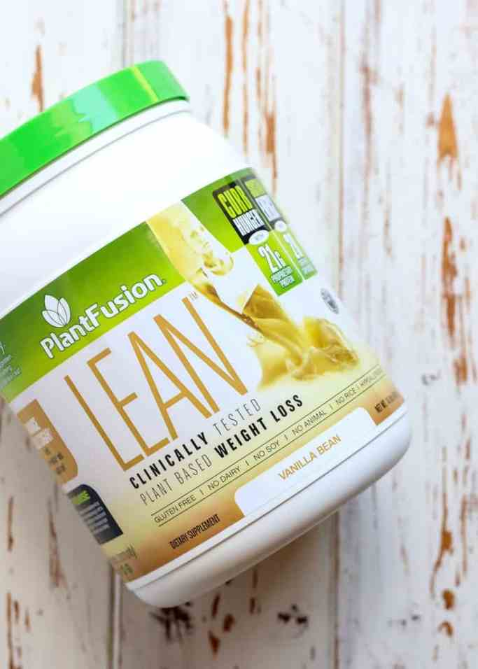 PlantFusion LEAN. Clinically tested plant-based weight loss shake, clinically proven to be 35% more effective than whey protein in curbing hunger.