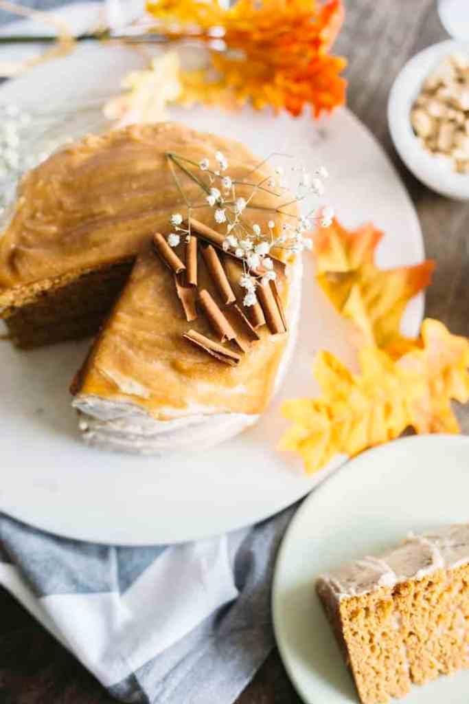 Vegan Pumpkin Cake - The Almond Eater