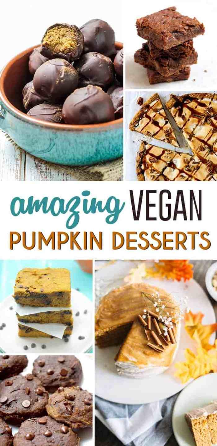 12 Amazing Vegan Pumpkin Desserts to try! -- by Fit Mitten Kitchen