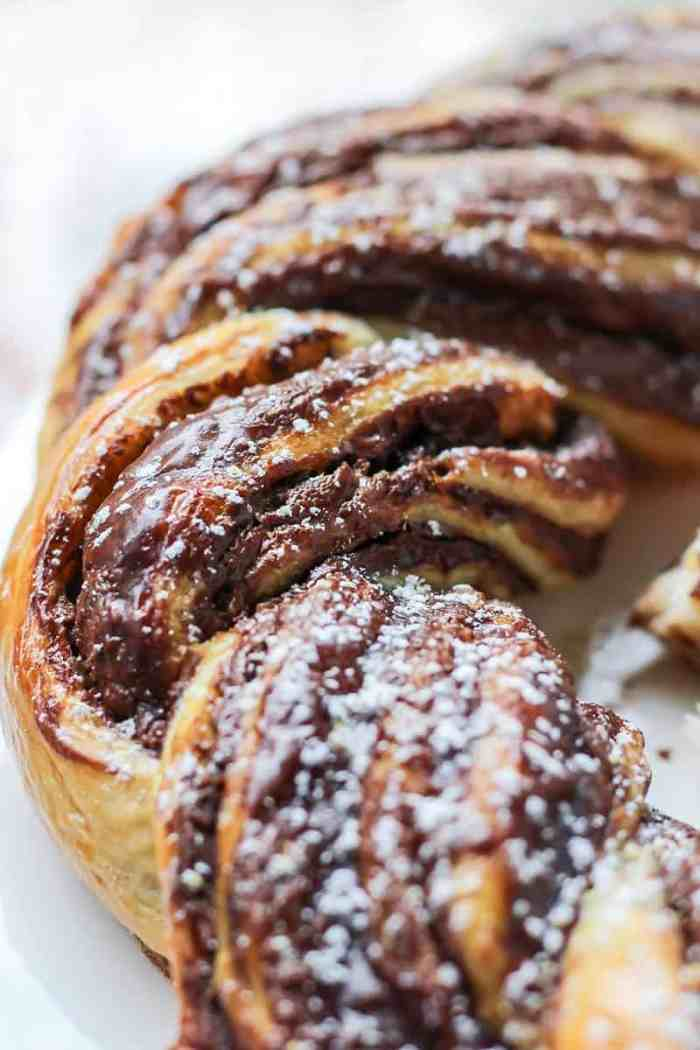 Chocolate Braided Bread and just two ingredients!