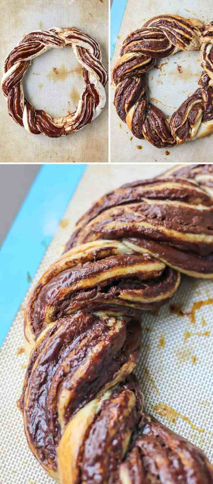 2-Ingredient Chocolate Braided Bread!