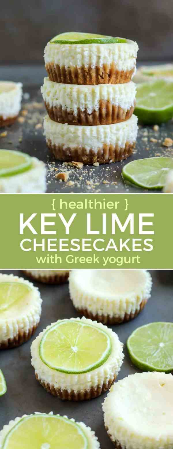Mini Key Lime Cheesecakes with Greek Yogurt Fit Mitten