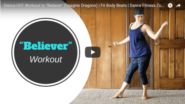 dance hiit burpee workout video to believer imagine dragons