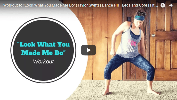 look what you made me do leg core cardio dance hiit workout video