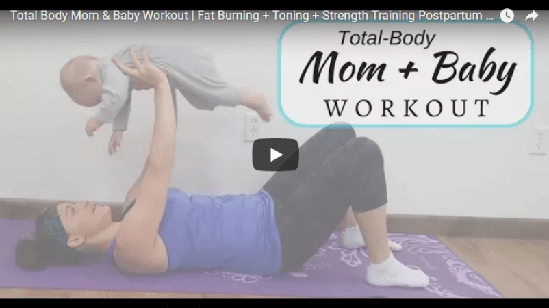 total body mom baby postpartum exercise workout video