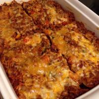 Beef & Brown Rice Taco Bake
