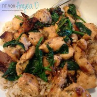 Chicken Spinach Saute