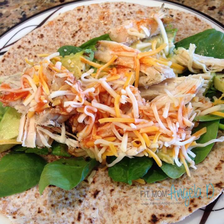 21 Day Fix Chicken Avocado Quesadilla