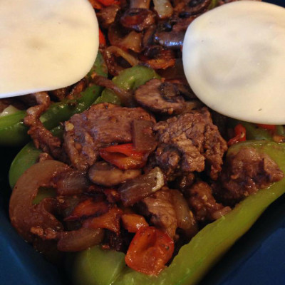 21 Day Fix Approved Cheese Steak Stuffed Peppers