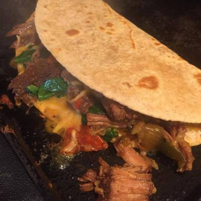 Slow Cooked Steak Fajitas
